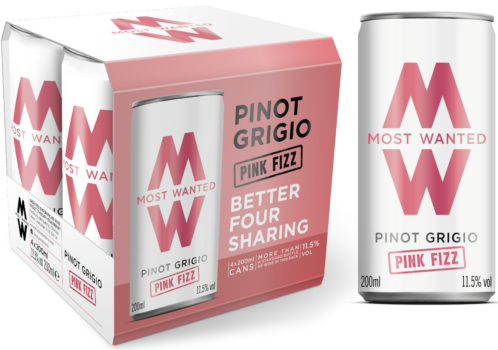 Pinot Grigio Pink Fizz Cans